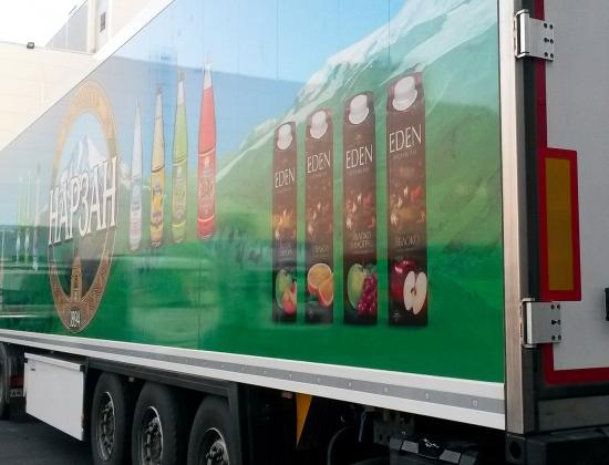 реклама на грузовых автомобилях