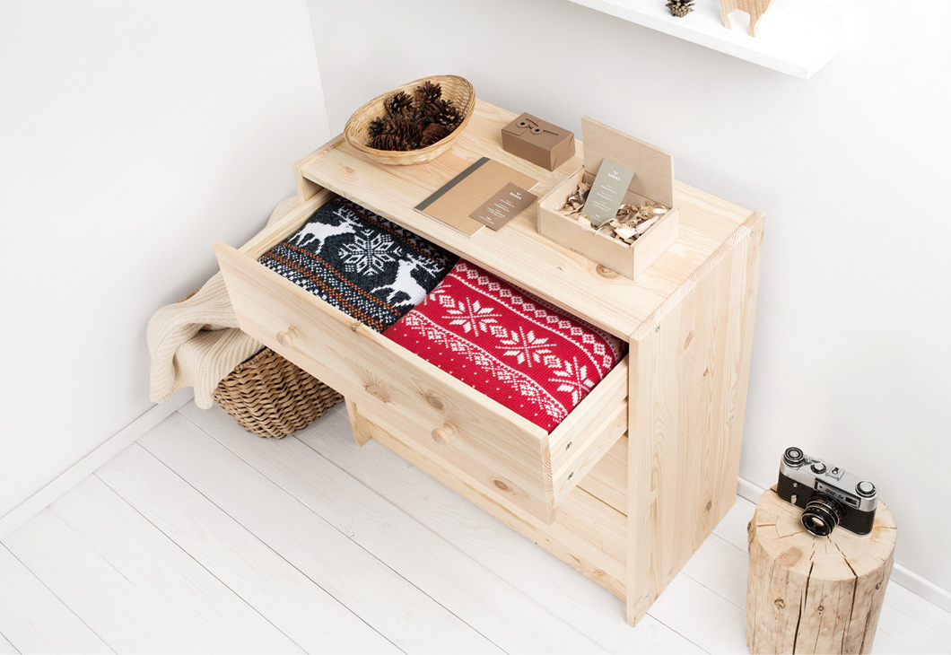 Айдентика для магазина вязаных свитеров со скандинавскими мотивами