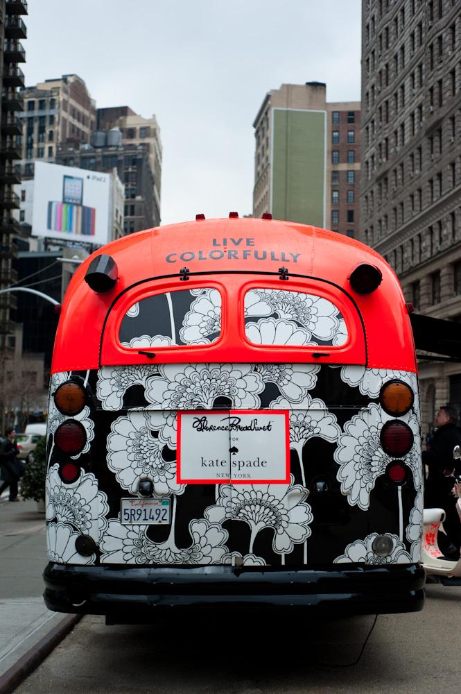 Kate Spade Bus branding