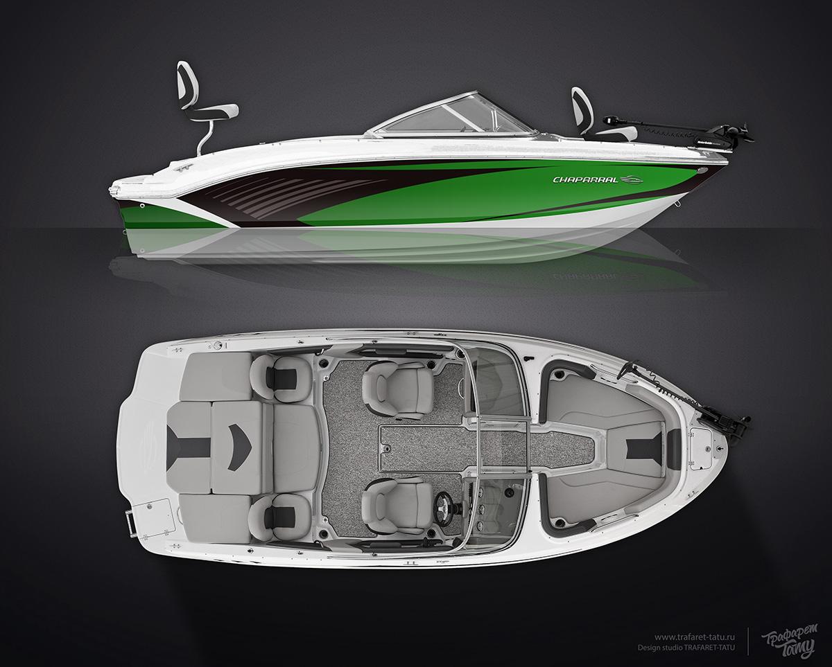 Новые эскизы для моторной лодки Chaparral