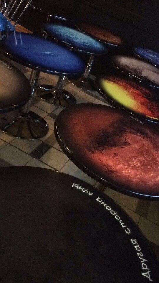 Оформление кафе, оклейка барной стойки и столов